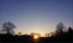 Sonnenaufgang an Neujahr