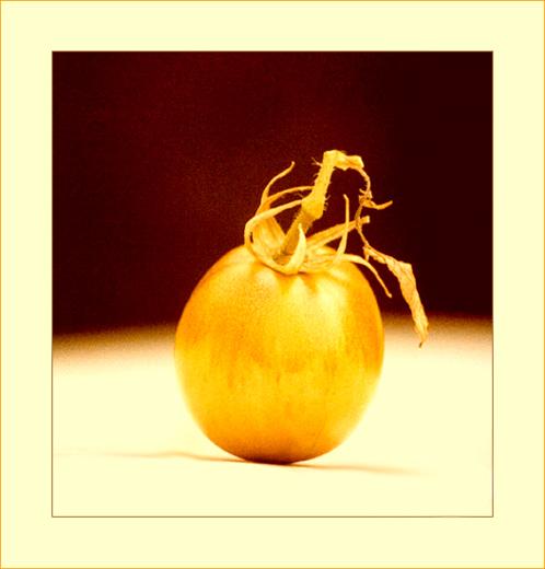 Tomate auf dem Tisch