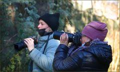 Fotografinnen am Waldrand