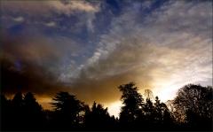 Wolken vor Sonnenaufgang
