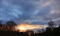 Morgenhimmel vor Sonnenaufgang