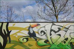 Graffitikunst auf einer Mauer