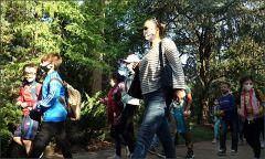 Waldwanderung mit Lehrerin
