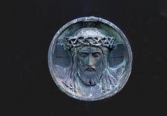 Jesus auf einem Grabstein