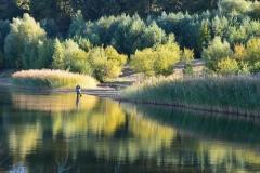 Violette: Ein Angler