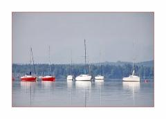 Felfrie: Schiffe auf dem Starnberger See