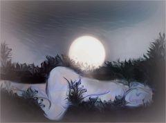 Die Schöne und der Mond :-)