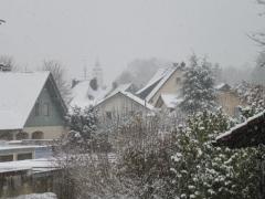 Graziella: Erster Schneefall im November im Allgäu